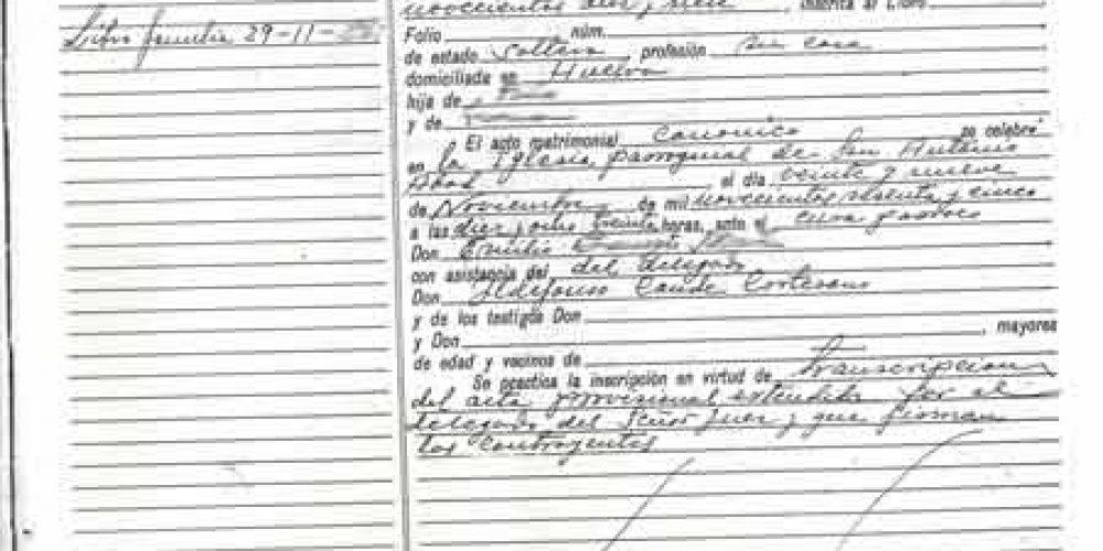 Certificado de Matrimonio en Canarias - Registro Civil de Las Palmas